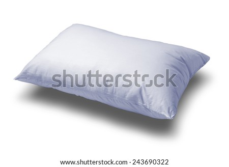 light blue pillow - stock photo