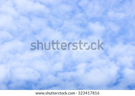 Light blue sky with clouds,  background
