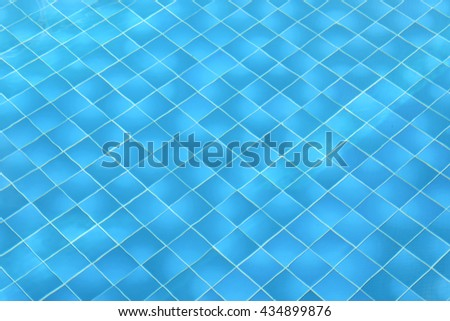 Light Blue swimming pool rippled water texture reflection and space for text. - stock photo