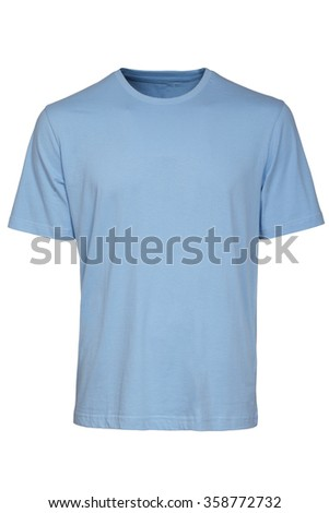 Light Blue Tshirt Template - stock photo