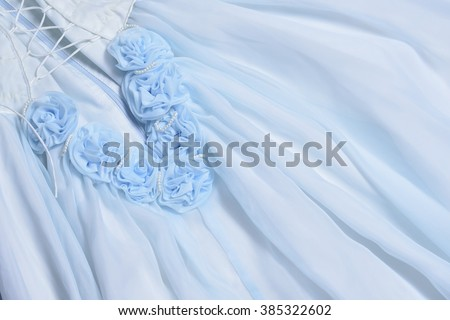 light blue wedding background fabric and roses