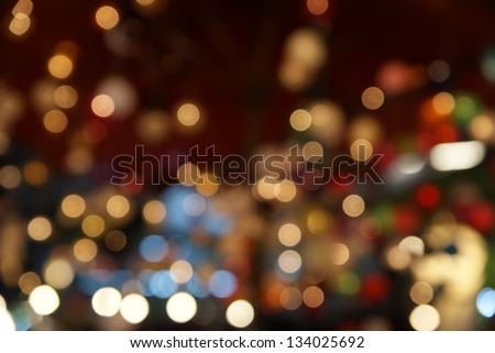 Light bokeh photography - stock photo