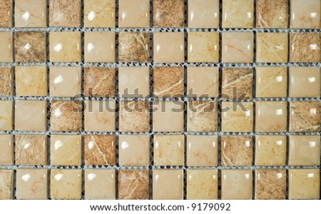light brown background from mosaic - stock photo