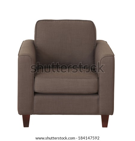 Light brown chair (couch) isolated on white