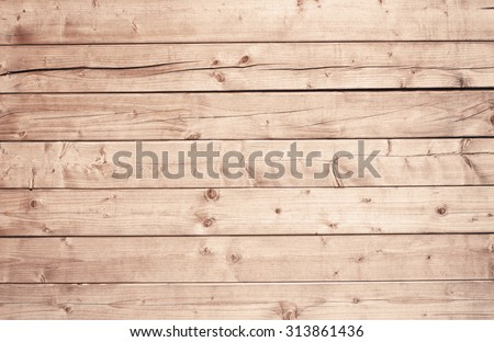Light brown wooden texture with horizontal planks, table, desk or wall surface - stock photo