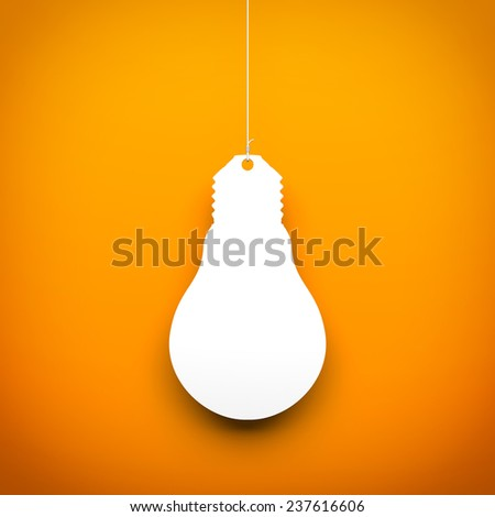 Light bulb hanging on the rope - stock photo