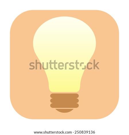 Light bulb icon - stock photo