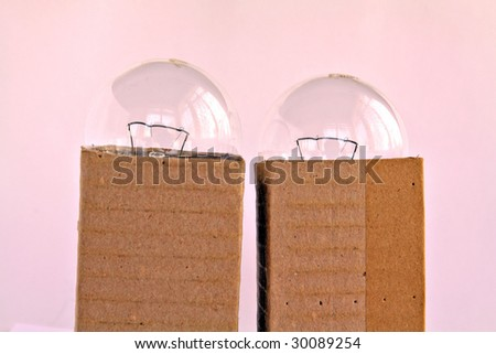 light bulb in packing - stock photo