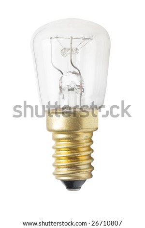 Light bulb isolated on a white