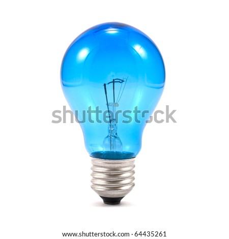 Light bulb isolated on a white background - stock photo