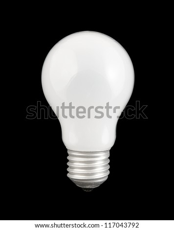 Light bulb isolated on black