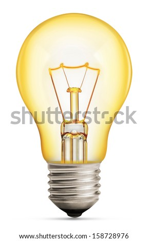 light bulb isolated on white  - stock photo