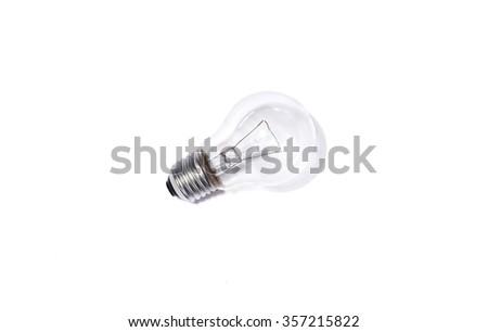 Light bulb isolated on white - stock photo