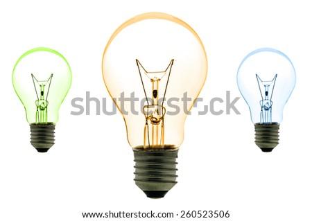 Light bulb isolated on white background - stock photo