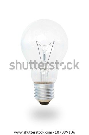 Light bulb isolated on white backgrounds. - stock photo