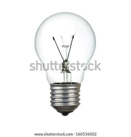 Light bulb isolated over white with clipping path - stock photo
