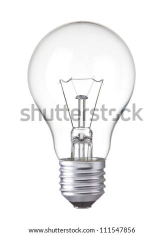 Light bulb, isolated, Realistic photo image - stock photo