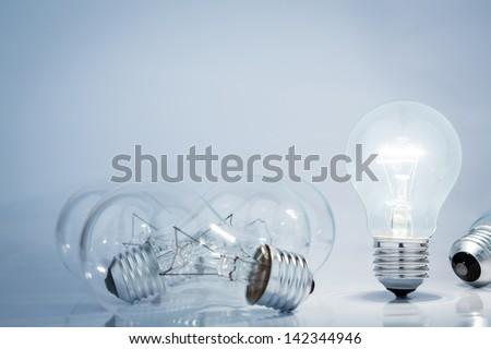 Light bulb lamps - stock photo