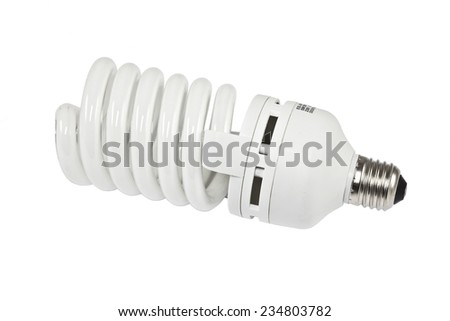 light bulb on a white background isolated