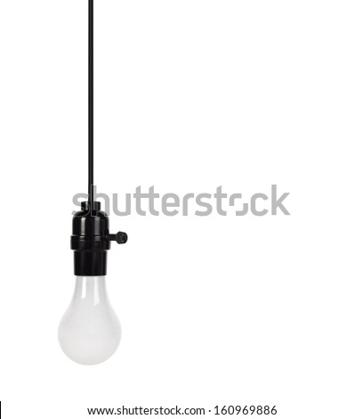 Light bulb on wire - stock photo