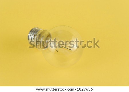 Light bulb with lot of details visible