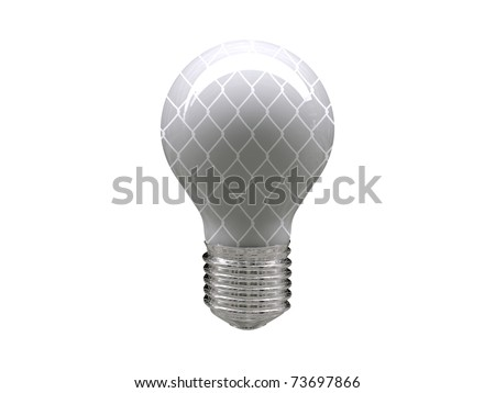 light bulb with wire pattern isolated on white background