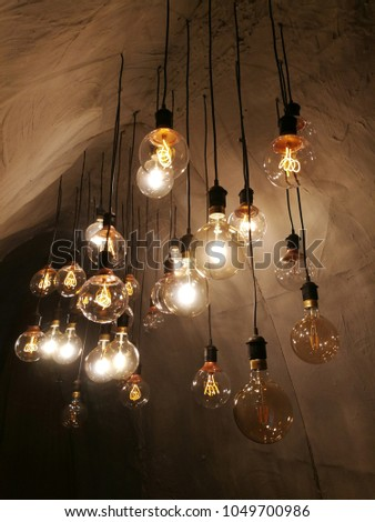 Light Bulbs Detail Of Exhibition Nikola Tesla