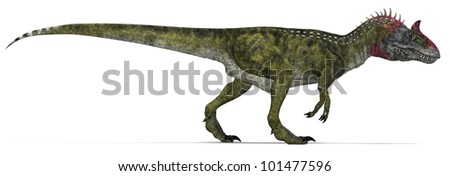 Light Carnivorous Dinosaur hunting - stock photo