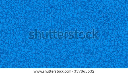 Light Cerulean Blue Abstract Bubbles