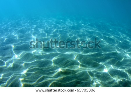 Light dappled sandy bottom, picture taken in Deerfield Beach, Florida. - stock photo