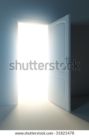 light door - stock photo