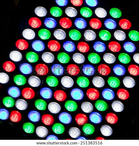 Light emitting diodes for LED display - stock photo