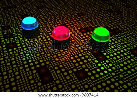 Light emitting diodes on circuit board - stock photo