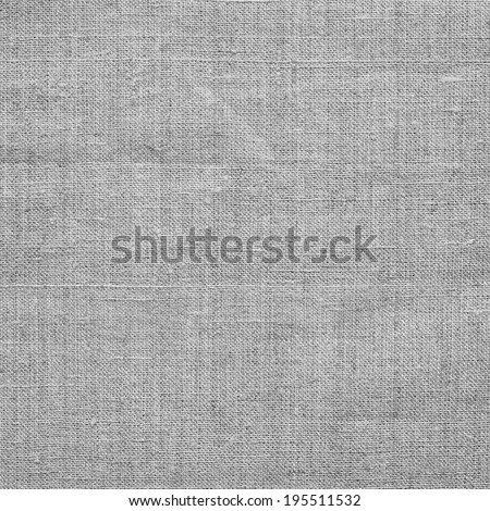 Light gray linen coarse natural woven canvas fabric texture for the background - stock photo