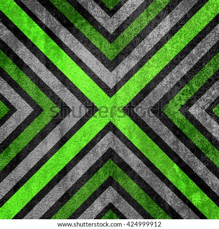 Light green and black abstract old background texture with X pattern. - stock photo
