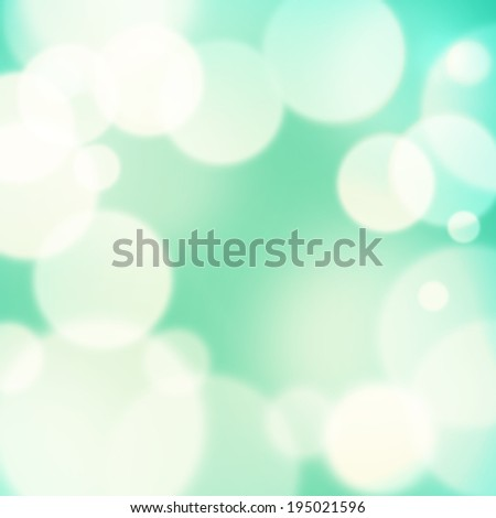 Light Green and Turquoise Colors in Abstract Smooth Bokeh Frame. background