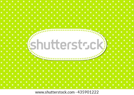 Light green background with white dots and white spae for text