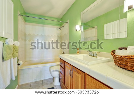 green bathroom stock images, royalty-free images & vectors