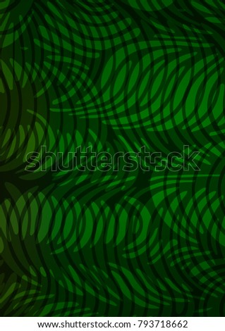 Light Green indian curved background. Blurred decorative design in Indian style with Zen tangles. The elegant pattern can be used as a part of a brand book.