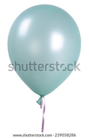 Light Green Single balloon - stock photo