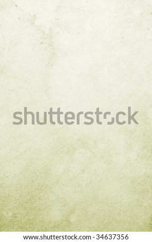 Light green stained background. Soft canvas texture. - stock photo