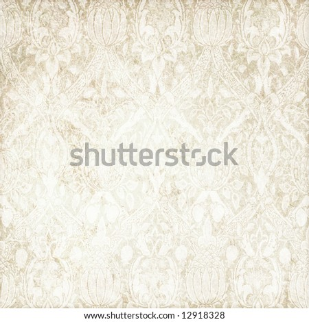 light grungy floral background - stock photo