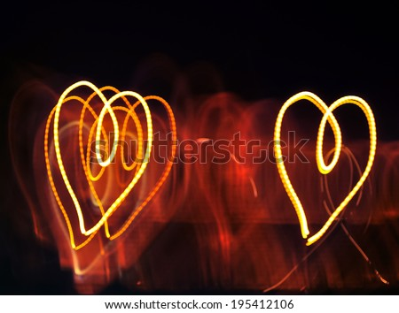 light heart shape - stock photo