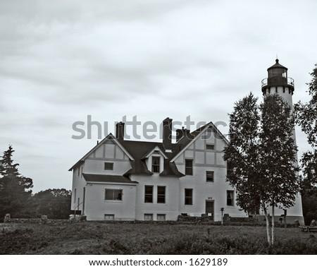 Light house complex - stock photo