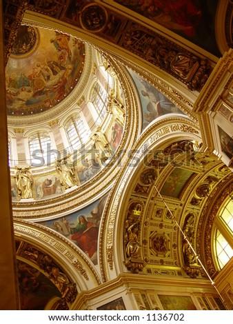 Light in church - stock photo