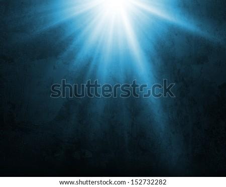 Light in empty room  - stock photo
