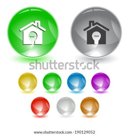 Light in home. Raster interface element.  - stock photo