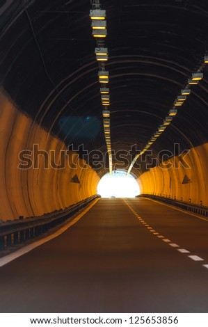 Light in the tonnel concept - stock photo