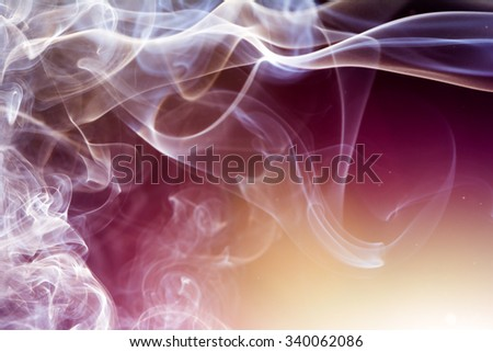 Light incense smoke abstract background. - stock photo