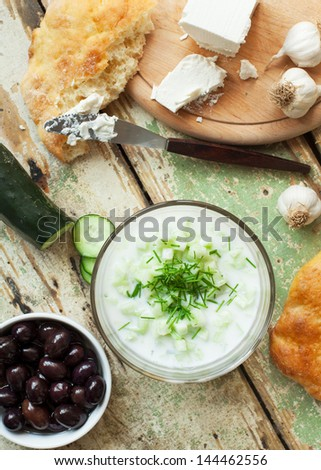 Light Mediterranean meal - stock photo